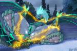 auroth_the_winter_wyvern bdsm belly_scales blush bondage bound butt claws dota dragon eyes_closed female fur furred_dragon hair horn leaking pussy_juice scales scalie seductive shackles solo spread_legs spreading stripes sweat used video_games wet wingedwilly wyvern