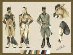 abs back-view clothed clothing equine front-view horse kaeaskavi male mammal model_sheet nude penis uniform world_war_2  Rating: Explicit Score: 3 User: Loriniel Date: June 10, 2015