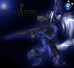 4_toes anthro blue_eyes blue_fur bodysuit canine clothing female fur gun hair m468 mammal mask ranged_weapon skinsuit solo toes weapon white_hair  Rating: Safe Score: -3 User: Sebastianp666 Date: March 10, 2015