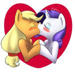 2015 <3 applejack_(mlp) atane18 blonde_hair blush duo equine eyes_closed eyeshadow female female/female feral friendship_is_magic hair horn horse kissing makeup mammal my_little_pony plain_background pony purple_hair rarity_(mlp) unicorn white_background   Rating: Safe  Score: 3  User: 2DUK  Date: March 27, 2015
