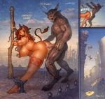 2016 anal anal_penetration animal_humanoid arcturusx1 areola big_breasts bovine breasts city cloud corruption_of_champions cow_humanoid cum cum_in_ass cum_inside day death detailed_background duo english_text erect_nipples erection excellia_(coc) female forced hi_res horn huge_breasts humanoid humor male mammal minotaur nipple_piercing nipples nude outside penetration penis piercing rape sex sky text  Rating: Explicit Score: 10 User: Robinebra Date: March 18, 2016