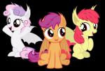 alpha_channel animal_ears apple_bloom_(mlp) bat_pony cute cutie_mark_crusaders_(mlp) equine fangs female feral friendship_is_magic fur group hair horn magister39 mammal my_little_pony open_mouth plain_background pointy_ears purple_hair red_eyes scootaloo_(mlp) sitting smile solo sweetie_belle_(mlp) transparent_background two_tone_hair vampire white_fur winged_unicorn wings   Rating: Safe  Score: 9  User: darknessRising  Date: April 14, 2014
