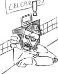 ! animatronic beard crossover english_text facial_hair five_nights_at_freddy's headband konami looking_at_viewer machine male metal_gear monochrome parody robot solid_snake solo text vent video_games  Rating: Safe Score: 7 User: Juni221 Date: November 21, 2014
