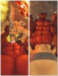 abs anthro blue_eyes cave crocodile deep_throat dragon erection feathers fellatio first_person_view hoard jarek lava male male/male muscles nude oral penis reptile rezzeran_(character) ryoken scalie sex slit submissive_pov wings  Rating: Explicit Score: 23 User: JarekBloodDragon Date: July 24, 2015