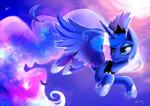 blue_hair crown equine feathered_wings feathers female feral flying friendship_is_magic hair horn jewelry long_hair mammal my_little_pony necklace open_mouth princess_luna_(mlp) shira-hedgie solo star winged_unicorn wings  Rating: Safe Score: 6 User: Egekilde Date: January 31, 2016