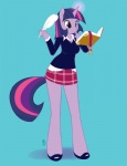 2011 anthro anthrofied book clothed clothing cute equine female friendship_is_magic fur glowing hair holding holding_book horn long_hair mammal miu multicolored_hair my_little_pony pen pink_hair purple_eyes purple_fur purple_hair shirt short_hair simple_background skirt solo standing twilight_sparkle_(mlp) unicorn  Rating: Safe Score: 22 User: Fur_in_the_dark Date: September 22, 2011