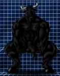 abs anthro balls biceps big_muscles big_penis black_fur black_nipples black_penis blue_eyes bovine cattle crouching erection fur grin hooves horn humanoid_penis looking_at_viewer male mammal muscular muscular_male nipples nude pecs penis pose presenting shower sitting smile solo spread_legs spreading sudonym teeth toned vein  Rating: Explicit Score: 8 User: unforget Date: November 16, 2013