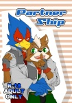 anthro avian beak bird canine clothed clothing coat comic cover cover_page duo english_text falco_lombardi fox fox_mccloud hug looking_at_viewer male male/male mammal nintendo quartet_(artist) scarf simple_background smile star_fox teeth text video_games  Rating: Safe Score: 3 User: intelligent_turret Date: April 24, 2016