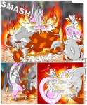 ambiguous_gender battle comic dusty's_poke'adventure fire graceful heatran legendary_pokémon mienshao necklace nintendo pink_eyes pokémon red_eyes suprise_attack tydrian video_games   Rating: Safe  Score: 1  User: Nartan  Date: April 22, 2013