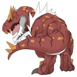 2013 ambiguous_gender and_stuff claws dinosaur male nintendo open_mouth plain_background pokémon reptile roaring scalie solo teeth toe_claws tyrannosaurus_rex tyrantrum video_games white_background   Rating: Safe  Score: 2  User: Kakuya  Date: March 13, 2014