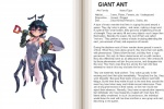 ant antennae arthropod blue_eyes blush book english_text female giant_ant gloves insect kenkou_cross monster monster_girl monster_girl_profile pointy_ears shovel solo text the_more_you_know   Rating: Questionable  Score: 1  User: Dogenzaka  Date: July 30, 2009
