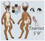 anthro antlers blue_eyes brown_fur cervine cum deer erection ethriol fur horn male mammal model_sheet penis standing tzarious   Rating: Explicit  Score: 5  User: anarchyshark  Date: May 18, 2015