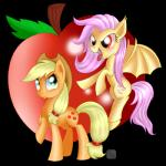 2014 alpha_channel apple applejack_(mlp) bat_pony blonde_hair cowboy_hat cutie_mark duo equine fangs female flutterbat_(mlp) fluttershy_(mlp) flying freckles friendship_is_magic fruit green_eyes hair hat horse mammal membranous_wings messy_hair my_little_pony pegasus plain_background pony purple_hair red_eyes swanlullaby transparent_background wings   Rating: Safe  Score: 5  User: 2DUK  Date: January 06, 2014