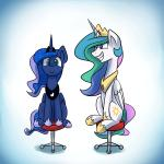 2015 animated anticularpony cartoon duo equine female feral friendship_is_magic horn mammal my_little_pony princess_celestia_(mlp) princess_luna_(mlp) spinning winged_unicorn wings   Rating: Safe  Score: 27  User: Robinebra  Date: January 25, 2015