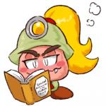 blonde_hair blush book english_text fangs female goomba goombella hair helmet mario_bros nintendo not_furry paper_mario ponytail reading solo source_request text unknown_artist video_games   Rating: Safe  Score: 6  User: Juni221  Date: May 17, 2015