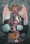 2012 anthro breasts clothed clothing demon digital_media_(artwork) female fur gem hair hi_res horn magic raptor007 red_eyes sinthela solo spacesuit wings   Rating: Safe  Score: 0  User: GameManiac  Date: March 16, 2015