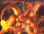 2017 animal_genitalia animal_penis anthro anthrofied anus areola backsack balls bedroom_eyes big_anus big_balls big_breasts big_butt big_penis blue_eyes breast_grab breasts butt butt_focus charizard detailed_background dickgirl digital_media_(artwork) dripping edit equine_penis fire half-closed_eyes hand_on_breast hand_on_butt hi_res huge_balls huge_penis intersex klent lava looking_at_viewer looking_back medial_ring nintendo nipples nude open_mouth orange_balls penis pokémon pokémon_(species) pokémorph portrait presenting presenting_hindquarters rear_view scalie seductive smoke soft_shading solo spread_legs spreading standing sweat thick_thighs three-quarter_portrait tongue tongue_out video_games volcano voluptuous warm_colorsRating: ExplicitScore: 99User: lizlizthelizDate: April 27, 2018