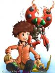 2002 antennae arthropod claws clothed clothing computer cute digimon duo hair human insect karabiner koushirou_izumi ladybug laptop male mammal multi_limb plain_background red_body scarab smile tentomon wings   Rating: Safe  Score: 4  User: Lazuli  Date: April 12, 2015