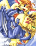 cloud cloudscape cum cum_string dragon duo edmol female feral flammie fur furred_dragon male male/female mana_(series) messy outside scalie secret_of_mana sex_while_flying sky video_games wings  Rating: Explicit Score: 4 User: fh3lc7kh Date: June 08, 2013
