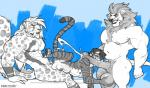 5_fingers abdominal_bulge abs animal_genitalia animal_penis anthro anthro_on_anthro ball_fondling balls barefoot biceps big_balls big_biceps big_pecs big_penis biped clouded_leopard countershade_face countershade_torso countershading cum cumshot ejaculation equine_penis erection eye_markings eyebrows fangs feline fondling fur greyscale grin hair hi_res huge_muscles humanoid_hands kihu larger_male lion long_hair long_penis male male/male mammal mane_hair markings monochrome musclegut muscular muscular_male nipples nude oral orgasm pecs penetration penis plantigrade pleasured quads saber-toothed_cat sabertooth_(feature) serratus sheath short_hair side_view sideways_oral signature size_difference slim smaller_male smile spot_color spots spotted_fur striped_fur stripes tiger tongue triceps vein veiny_muscles veiny_penis white_furRating: ExplicitScore: 11User: WolfBRDate: August 31, 2017