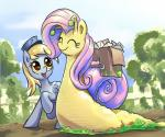 2013 bag blonde_hair derpy_hooves_(mlp) equine eyes_closed female fence feral fluttershy_(mlp) friendship_is_magic gsphere hair letter mail mammal my_little_pony outside pegasus pink_hair shell snail tree wings yellow_eyes   Rating: Safe  Score: 7  User: 2DUK  Date: September 11, 2013