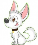 bolt bolt_(film) brown_eyes canine collar cute disney dog fur kippykat male mammal open_mouth plain_background solo teeth tongue white_fur   Rating: Safe  Score: 1  User: DeltaFlame  Date: March 01, 2015