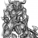 abs anthro armor balls battleaxe belt big_penis body_hair bovine clothing daftpatriot facial_piercing front_view greyscale half-erect horn humanoid_penis ineffective_loincloth loincloth looking_at_viewer male mammal minotaur monochrome muscular nipple_piercing nipples nose_piercing nose_ring pecs penis penis_slip piercing precum runescape sketch solo standing uncut vein veiny_penis  Rating: Explicit Score: 7 User: Circeus Date: October 08, 2015