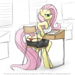 anthro anthrofied butt clothed clothing equine female fluttershy_(mlp) friendship_is_magic horse mammal my_little_pony panties pony sitting sketch skimpy smudge_proof solo thong underwear   Rating: Questionable  Score: 39  User: Smudge_Proof  Date: August 15, 2014