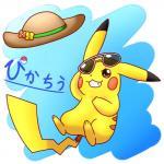 1:1 clothing hat headgear headwear nintendo one_eye_closed pikachu pikatiu pokémon pokémon_(species) smile straw_hat video_games winkRating: SafeScore: 1User: VictiniLovesMewDate: August 17, 2019