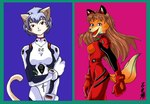 anthro asuka_langley_soryu canine cat duo feline female fox mammal neon_genesis_evangelion parody pawmarks plugsuit rei_ayanami   Rating: Safe  Score: 1  User: msc  Date: April 02, 2007