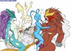 2008 anal anthro brown_eyes cum cum_everywhere dark-moltres entei foursome green_eyes group group_sex handjob kissing legendary_pokémon licking male male/male messy muscular nintendo nipples penis pink_eyes pokémon sex suicune tongue tongue_out video_games yellow_eyes  Rating: Explicit Score: 3 User: Untamed Date: September 23, 2015