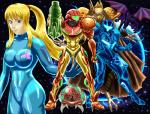 2010 alien ambiguous_gender armor avian blonde_hair blue_eyes breasts chozo claws dark_samus dragon female group hair human looking_at_viewer male mammal metroid nintendo purple_scales red_eyes ridley samus_aran scalie space space_pirate star talons teeth video_games weapon wings yellow_sclera zero_suit   Rating: Safe  Score: 1  User: GameManiac  Date: March 23, 2015