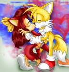 anthro blonde_hair blue_eyes canine duo female fiona_fox fox hair kissing male mammal miles_prower moon-shyne sonic_(series)   Rating: Safe  Score: 3  User: Munkelzahn  Date: September 03, 2013