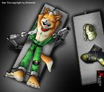 anthro arms_above_head bandanna boots bound canine captured clothed clothing eyes_closed feather fingerless_gloves fox_mccloud gloves kidnap laugh lying male mammal nintendo on_back robot_arms solo star_fox table tickle_torture tickling torn_clothing undressing video_games ximon   Rating: Safe  Score: -2  User: malekrystal  Date: September 06, 2014