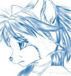 anthro black_nose canine female fox gem hair hair_ornament jewelry krystal mammal masteroflightnings monochrome nintendo plain_background short_hair shoulder_pads signature solo star_fox video_games  Rating: Safe Score: 15 User: Cαnε751 Date: June 17, 2015""