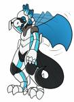 2016 aliasing anthro armor dragon hi_res machine male membranous_wings nervous open_mouth robot shy simple_background solo trout_(artist) wings