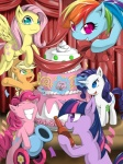 2012 absurd_res applejack_(mlp) banner blonde_hair blue_eyes blue_fur bottle cake cannon cutie_mark detailed_background equine eyes_closed female feral fluttershy_(mlp) food friendship_is_magic fur green_eyes grin group hair hat hi_res horn horse looking_at_viewer magic mammal multicolored_hair my_little_pony open_mouth orange_fur party_cannon pegasus pink_fur pink_hair pinkie_pie_(mlp) pony purple_eyes purple_fur purple_hair rainbow_dash_(mlp) rainbow_hair rarity_(mlp) ribbons smile twilight_sparkle_(mlp) two_tone_hair unicorn white_fur wings yellow_fur zaiyaki   Rating: Safe  Score: 8  User: Rainbow_Dash  Date: July 17, 2012