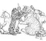 "alcohol ambiguous_gender balls beverage bow canine caprine ebonytigress feline female feral goat leopard male mammal monochrome plain_background spots stripes tail_bow tiger white_background wolf  Rating: Explicit Score: 3 User: Vinea Date: June 23, 2015"""