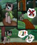 ? bag benigin_bergham black_hair comic digital_media_(artwork) duo equine everfree_forest fan_character female feral forest friendship_is_magic fur grey_fur hair horn male mammal mud mute my_little_pony open_mouth outside pictographics scarf signature smudge_proof speech_bubble tree unicorn zebra zecora_(mlp)  Rating: Safe Score: -6 User: Smudge_Proof Date: July 15, 2014