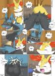akiru_cario anal balls braixen butt comic cum cum_on_face incest lucario male male/male nintendo orgasm penetration penis pokémon video_games winick-lim  Rating: Explicit Score: 3 User: Shadowkingdom465 Date: June 15, 2015""