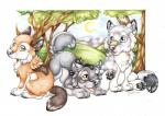 2015 amber_eyes blue_eyes border brown_eyes brown_fur canine cayleth chest_tuft chibi claws cute fur grass green_eyes grey_fur group happy looking_at_viewer mammal multicolored_fur open_mouth outside pawpads paws simple_background sky smile sun toe_claws traditional_media_(artwork) tree tuft two_tone_fur white_background white_fur wolf young  Rating: Safe Score: 3 User: Fleeks Date: August 17, 2015