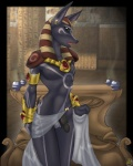 anthro anubian_jackal anubis balls black_penis canine clothed clothing conditional_dnp deity detailed_background ear_piercing egyptian flaccid girly glans humanoid_penis jackal male mammal ornaments partially_clothed penis piercing scappo skimpy slim_waist small_waist solo standing tattooRating: ExplicitScore: 25User: mscDate: May 03, 2008