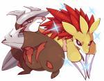 ambiguous_gender claws duo excadrill feral nintendo pokémon pokémon_(species) rapirisu sandslash shiny shiny_pokémon simple_background video_games white_backgroundRating: SafeScore: 3User: behverzhDate: November 28, 2017