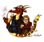 2013 anthro banner bilbo_baggins book claws coat dragen-sama dragon duo fire hat hobbit horn j._r._r._tolkien johnbo_watson male pipe reading scalie scarf smaug smauglock_holmes smoke the_hobbit tumblr   Rating: Safe  Score: 4  User: S=K_log_W  Date: January 26, 2015