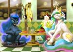 2016 absurd_res doughnut duo eating equine eyes_closed feathered_wings feathers female feral food friendship_is_magic green_eyes hair hi_res horn inside magic mammal milkshake multicolored_hair my_little_pony mykegreywolf princess_celestia_(mlp) princess_luna_(mlp) smile table winged_unicorn wings  Rating: Safe Score: 15 User: Robinebra Date: April 02, 2016
