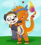 anthro bear charmander charmandrigo charmandrigo_(character) clothing duo hug loincloth mammal markings naocham nintendo pancham panda pokémon size_difference tribal video_games  Rating: Safe Score: 1 User: charmandrigo Date: July 28, 2015