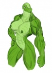 abs anthro big_breasts big_thighs breasts dinosaur female green_nipples muscles muscular_female nipples nude pose pussy reptile scalie solo thick_thighs   Rating: Explicit  Score: 7  User: misspriss  Date: November 19, 2011