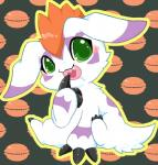 """ambiguous_gender blush claws claws_in_mouth digimon drooling fangs feral food fur gomamon hair long_ears mammal mohawk open_mouth saliva seal sitting sitting_up solo tongue カイリ  Rating: Safe Score: 3 User: Tarukaja Date: June 28, 2015"""""""