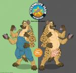 2013 anthro balls bulge chubby claws clothed clothing english_text erection hyena kobi_lacroix male mammal masculine multi_cock multi_limb multiple_arms nude overalls penis potatoes solo text toe_claws   Rating: Explicit  Score: 0  User: kobi-lacroix  Date: September 29, 2014