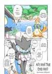 comic female fish floatzel flower forest kemono luxray male marine mikazuki_karasu nintendo outside plant pokémon smile translated tree video_games water yellow_eyes   Rating: Safe  Score: 2  User: KemonoLover96  Date: March 27, 2015